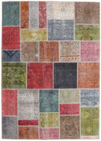 Patchwork - Persien/Iran Dywan 165X232 Nowoczesny Tkany Ręcznie Ciemnoszary/Ciemnoczerwony (Wełna, Persja/Iran)