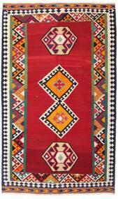 Kilim Vintage Dywan 143X250 Orientalny Tkany Ręcznie Czerwony/Ciemnoszary (Wełna, Persja/Iran)