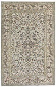 Keszan Dywan 190X301 Orientalny Tkany Ręcznie Jasnoszary/Ciemnoszary (Wełna, Persja/Iran)