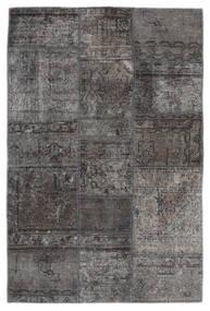 Patchwork - Persien/Iran Dywan 105X159 Nowoczesny Tkany Ręcznie Ciemnoszary/Czarny (Wełna, Persja/Iran)