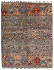 Shabargan Dywan 152X193 Nowoczesny Tkany Ręcznie Ciemnoczerwony/Jasnoszary (Wełna, Afganistan)