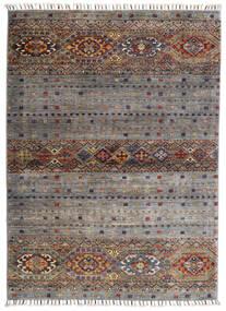 Shabargan Dywan 102X146 Nowoczesny Tkany Ręcznie Jasnoszary/Ciemnoszary (Wełna, Afganistan)