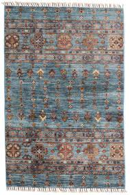 Shabargan Dywan 101X156 Nowoczesny Tkany Ręcznie Niebieski/Jasnobrązowy (Wełna, Afganistan)