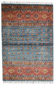 Shabargan Dywan 104X156 Nowoczesny Tkany Ręcznie Niebieski/Ciemnoszary (Wełna, Afganistan)