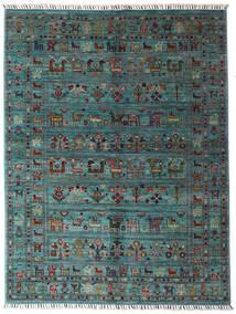 Sharbargan Dywan 152X200 Nowoczesny Tkany Ręcznie Niebieski/Ciemnoszary (Wełna, Afganistan)
