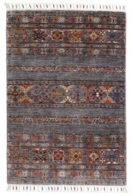 Sharbargan Dywan 82X119 Nowoczesny Tkany Ręcznie Ciemnobrązowy/Ciemnoszary (Wełna, Afganistan)