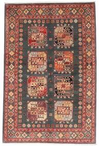 Kazak Dywan 118X179 Orientalny Tkany Ręcznie Ciemnoczerwony/Ciemnoszary (Wełna, Afganistan)