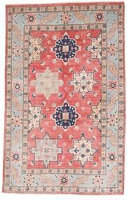 Kazak Dywan 121X190 Orientalny Tkany Ręcznie Jasnoszary/Jasnoróżowy (Wełna, Afganistan)
