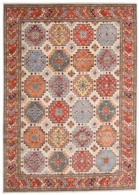 Kazak Dywan 244X342 Orientalny Tkany Ręcznie Jasnobrązowy/Beżowy (Wełna, Afganistan)