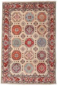 Kazak Dywan 118X179 Orientalny Tkany Ręcznie Ciemnobrązowy/Jasnoszary (Wełna, Afganistan)