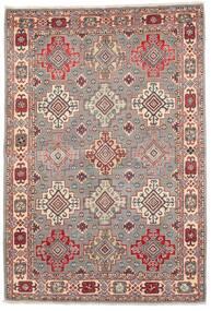 Kazak Dywan 121X177 Orientalny Tkany Ręcznie Jasnoszary/Ciemnoczerwony (Wełna, Afganistan)