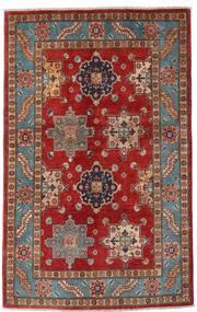 Kazak Dywan 118X188 Orientalny Tkany Ręcznie Ciemnoczerwony/Ciemnobrązowy (Wełna, Afganistan)