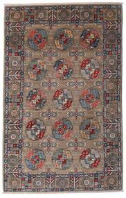 Kazak Dywan 115X182 Orientalny Tkany Ręcznie Jasnoszary/Ciemnobrązowy (Wełna, Afganistan)