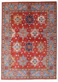 Kazak Dywan 144X203 Orientalny Tkany Ręcznie Ciemnoczerwony/Rdzawy/Czerwony (Wełna, Afganistan)