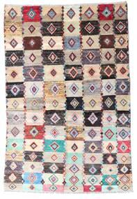 Moroccan Berber - Afghanistan Dywan 137X204 Nowoczesny Tkany Ręcznie Beżowy/Jasnoszary (Wełna, Afganistan)