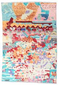 Moroccan Berber - Afghanistan Dywan 119X177 Nowoczesny Tkany Ręcznie Beżowy/Jasnoróżowy (Wełna, Afganistan)