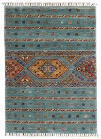 Shabargan Dywan 85X117 Nowoczesny Tkany Ręcznie Turkusowy Niebieski/Jasnoszary (Wełna, Afganistan)