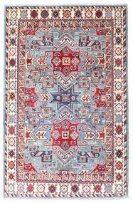 Kazak Dywan 121X186 Orientalny Tkany Ręcznie Biały/Creme/Różowy (Wełna, Afganistan)