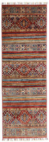 Shabargan Dywan 61X184 Nowoczesny Tkany Ręcznie Chodnik Ciemnoczerwony/Ciemnobrązowy (Wełna, Afganistan)
