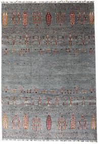 Shabargan Dywan 207X303 Nowoczesny Tkany Ręcznie Ciemnoszary/Niebieski (Wełna, Afganistan)