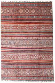 Shabargan Dywan 199X298 Nowoczesny Tkany Ręcznie Ciemnoczerwony/Jasnofioletowy (Wełna, Afganistan)