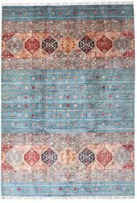 Shabargan Dywan 207X295 Nowoczesny Tkany Ręcznie Jasnoszary/Jasnoniebieski (Wełna, Afganistan)