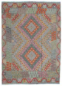 Kilim Afgan Old Style Dywan 170X234 Orientalny Tkany Ręcznie Ciemnoszary/Jasnobrązowy (Wełna, Afganistan)