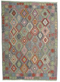 Kilim Afgan Old Style Dywan 174X239 Orientalny Tkany Ręcznie Ciemnoszary/Jasnoszary (Wełna, Afganistan)