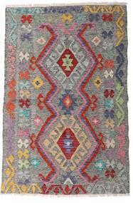 Kilim Afgan Old Style Dywan 94X144 Orientalny Tkany Ręcznie Jasnoszary/Ciemnobrązowy (Wełna, Afganistan)