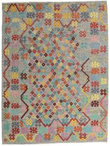 Kilim Afgan Old Style Dywan 185X245 Orientalny Tkany Ręcznie Jasnoszary/Ciemnoszary (Wełna, Afganistan)