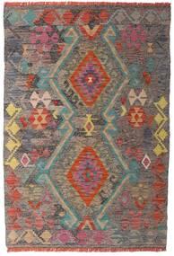 Kilim Afgan Old Style Dywan 98X146 Orientalny Tkany Ręcznie Jasnobrązowy/Jasnoszary (Wełna, Afganistan)