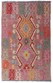 Kilim Afgan Old Style Dywan 97X155 Orientalny Tkany Ręcznie Ciemnoczerwony/Brązowy (Wełna, Afganistan)