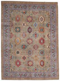 Kazak Dywan 296X403 Orientalny Tkany Ręcznie Jasnoszary/Ciemnobrązowy Duży (Wełna, Afganistan)
