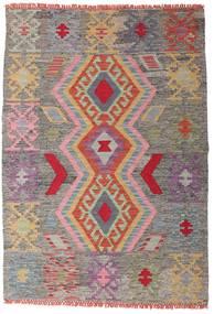 Kilim Afgan Old Style Dywan 102X147 Orientalny Tkany Ręcznie Jasnoszary/Ciemnoszary (Wełna, Afganistan)