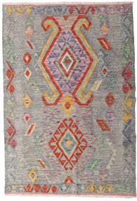 Kilim Afgan Old Style Dywan 101X148 Orientalny Tkany Ręcznie Jasnoszary/Jasnobrązowy (Wełna, Afganistan)