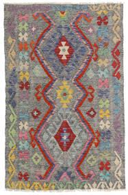 Kilim Afgan Old Style Dywan 96X149 Orientalny Tkany Ręcznie Ciemnoszary/Jasnoszary (Wełna, Afganistan)