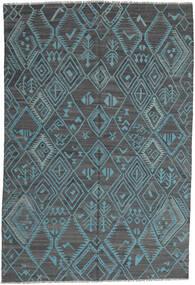 Kilim Nowoczesne Dywan 197X291 Nowoczesny Tkany Ręcznie Jasnoniebieski/Niebieski (Wełna, Afganistan)