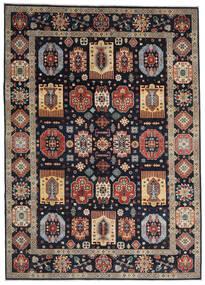 Kazak Dywan 252X349 Orientalny Tkany Ręcznie Ciemnoniebieski/Jasnoszary Duży (Wełna, Afganistan)