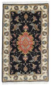 Tebriz 60 Raj Jedwabna Osnowa Dywan 73X120 Orientalny Tkany Ręcznie Czarny/Ciemnobeżowy (Wełna/Jedwab, Persja/Iran)