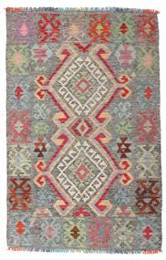 Kilim Afgan Old Style Dywan 98X152 Orientalny Tkany Ręcznie Jasnoszary/Ciemnoszary (Wełna, Afganistan)