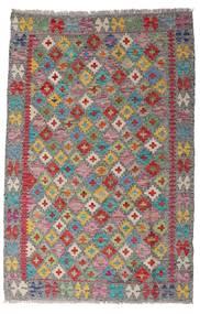 Kilim Afgan Old Style Dywan 96X149 Orientalny Tkany Ręcznie Jasnoszary/Jasnobrązowy (Wełna, Afganistan)