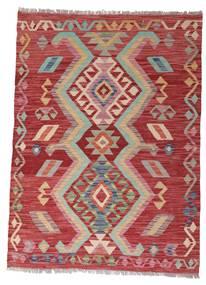 Kilim Afgan Old Style Dywan 102X140 Orientalny Tkany Ręcznie Ciemnoczerwony/Rdzawy/Czerwony (Wełna, Afganistan)