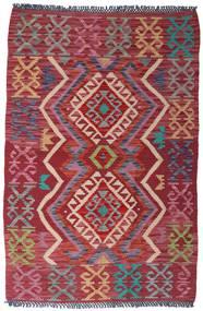 Kilim Afgan Old Style Dywan 99X149 Orientalny Tkany Ręcznie Ciemnoczerwony/Czerwony (Wełna, Afganistan)