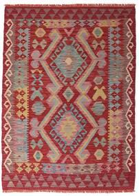 Kilim Afgan Old Style Dywan 106X147 Orientalny Tkany Ręcznie Ciemnoczerwony/Rdzawy/Czerwony (Wełna, Afganistan)