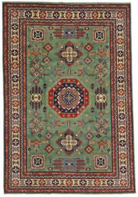 Kazak Dywan 197X289 Orientalny Tkany Ręcznie Zielony/Oliwkowy/Czarny (Wełna, Afganistan)