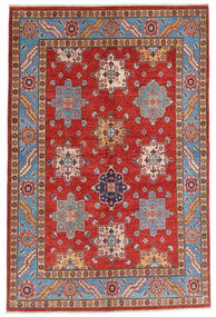 Kazak Dywan 158X237 Orientalny Tkany Ręcznie Ciemnoczerwony/Rdzawy/Czerwony (Wełna, Afganistan)