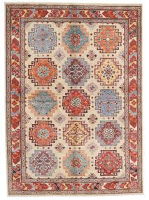 Kazak Dywan 170X236 Orientalny Tkany Ręcznie Jasnobrązowy/Beżowy (Wełna, Afganistan)