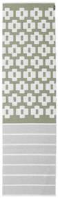Siri - Zielony Dywan 70X250 Nowoczesny Chodnik Jasnoszary/Biały/Creme ( Szwecja)