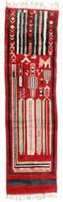 Berber Moroccan - Mid Atlas Dywan 82X304 Nowoczesny Tkany Ręcznie Chodnik Rdzawy/Czerwony/Czarny (Wełna, Maroko)