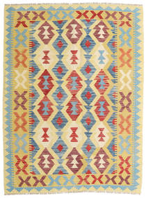 Kilim Afgan Old Style Dywan 133X179 Orientalny Tkany Ręcznie Ciemnobeżowy/Rdzawy/Czerwony (Wełna, Afganistan)